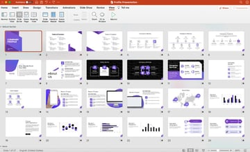 How to make company profile in powerPoint