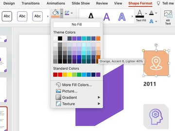 Shape creative company profile PPT
