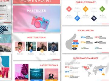 Background PowerPoint pastel