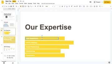 Animations how to make interactive Google Slides