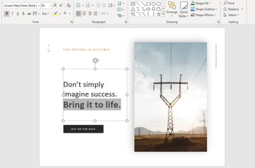 Bold text motivational presentation PPT