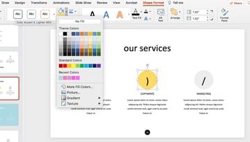 Shape colors how to edit design ideas in PowerPoint