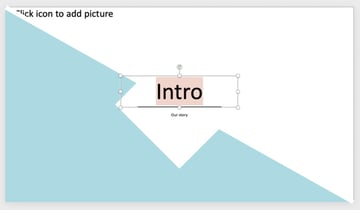 Text how to get design ideas on PowerPoint