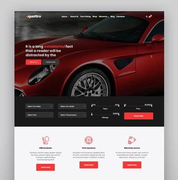 Quattro - Auto Booking The Theme Car WordPress