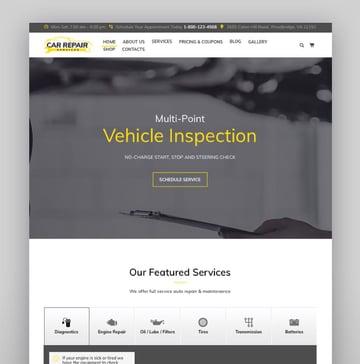 Car Repair Services Auto Mechanic WordPress Theme