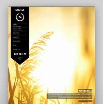 KingSize Fullscreen Photography WPBakery Visual Composer Compatible Theme