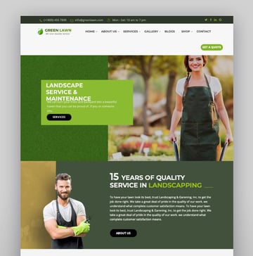 Green Lawn - Landscaping WordPress Theme