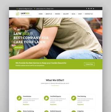 Lawner - Gardening and Landscaping WordPress theme