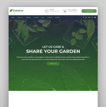 RakNew - Gardening and Landscaping WordPress Theme