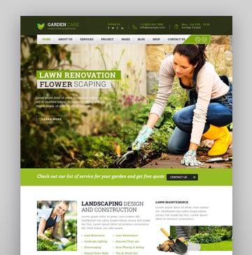 Garden Care - Gardening and Landscaping WordPress Theme