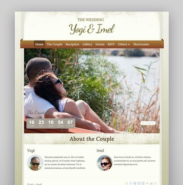 The Wedding - Elegant Wedding WordPress Theme