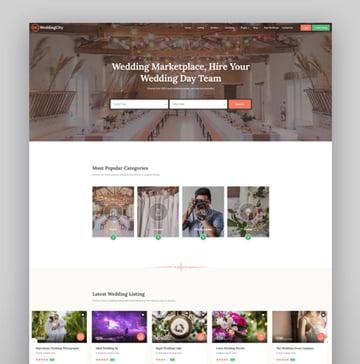 WeddingCity - Directory Listing WordPress Theme