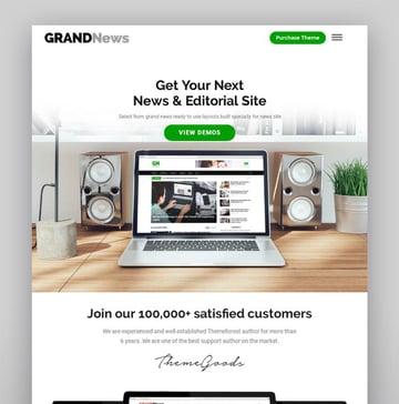 Grand News Magazine Newspaper WordPress