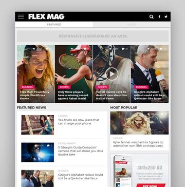 Flex Mag - Responsive WordPress News Theme