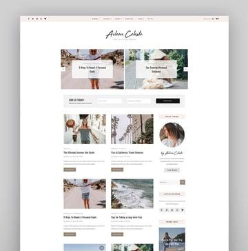 Aileen - A Personal Blog  Shop Theme