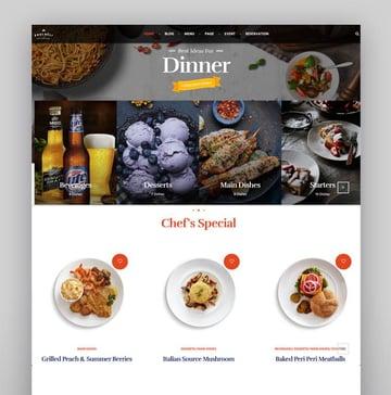 Souldeli - Restaurant  Cafe WordPress Theme