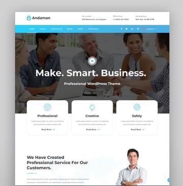 Andaman - Creative  Business WordPress Theme