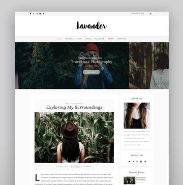 Lavander - A Lifestyle Responsive WordPress Blog Theme