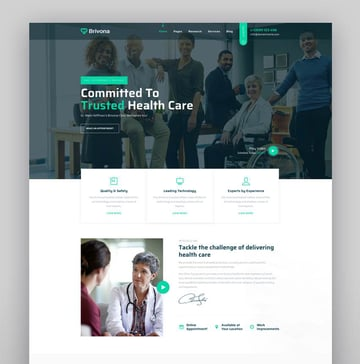 Brivona - Medical Health and Hospital WordPress Theme