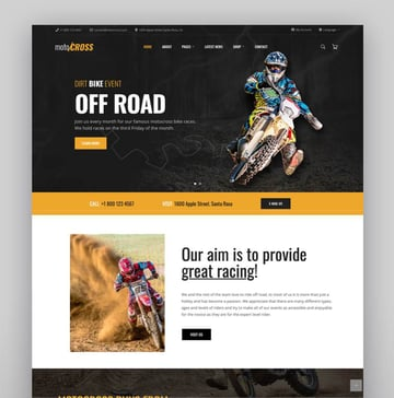 motoCROSS - Motorcycle  ATV WordPress Theme