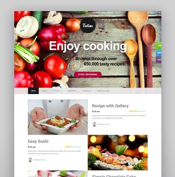 Talisa - Food Recipes WordPress Theme