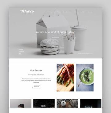 Marco Restaurant Cafe WordPress Theme