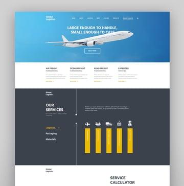 Global Logistics Transportation Warehousing WordPress Theme