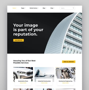 Factora - Factory Industry Business WordPress Theme