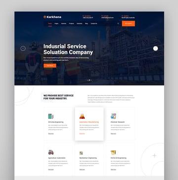 Karkhana - Industry  Factory WordPress Theme