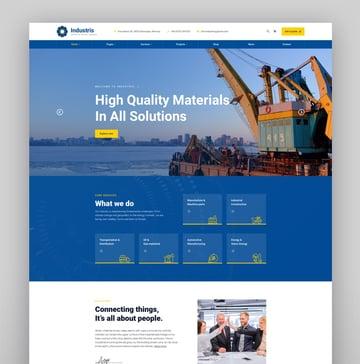 Industris - Factory  Business WordPress Theme