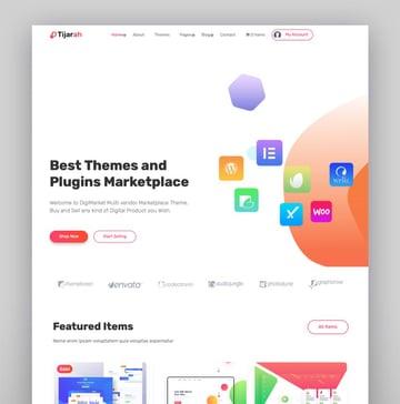 Tijarah - Digital Marketplace WooCommerce Theme
