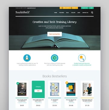 Bookshelf Best WordPress Theme for Book Blog Bookstore and Library