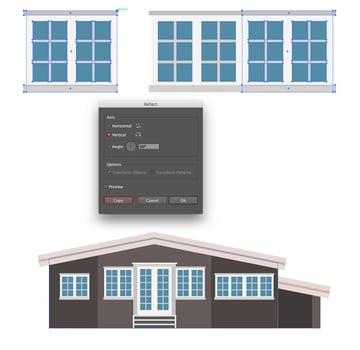 Creating large window and putting the windows to the house