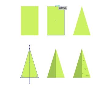 Building triangle-like tree