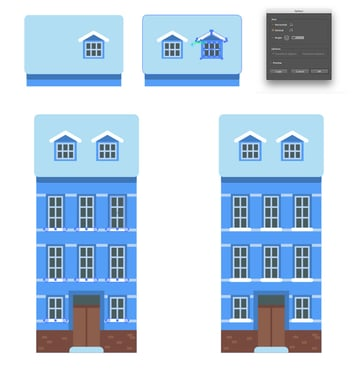 Adding a window and a second mansard Building snowy ledges