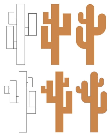 Drawing two cactuses