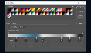 Creating a new gradient preset