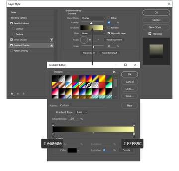 Gradient Overlay settings