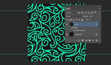 Adding the ornamental pattern to the brush layer