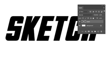 Text and background layers