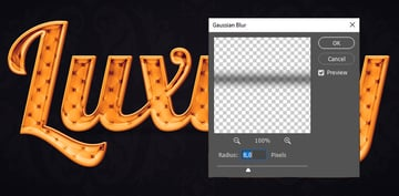 Applying gaussian blur to the shape