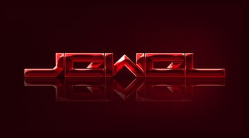 Jewel Text Effect Final result