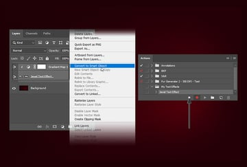 Converting the layers into one smart object