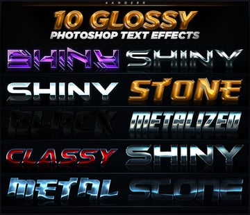 10 Glossy photoshop text effects promo image
