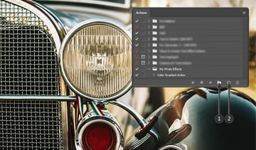 Creating a new Photoshop Action