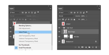 Create the Base Image layer and re-position it