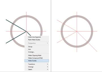 Turn lines into guides