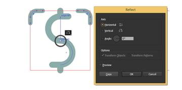 Reflect both frame segments