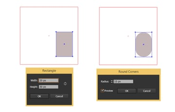 Create a rectangle with round corners