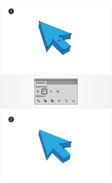 adjust blue shapes
